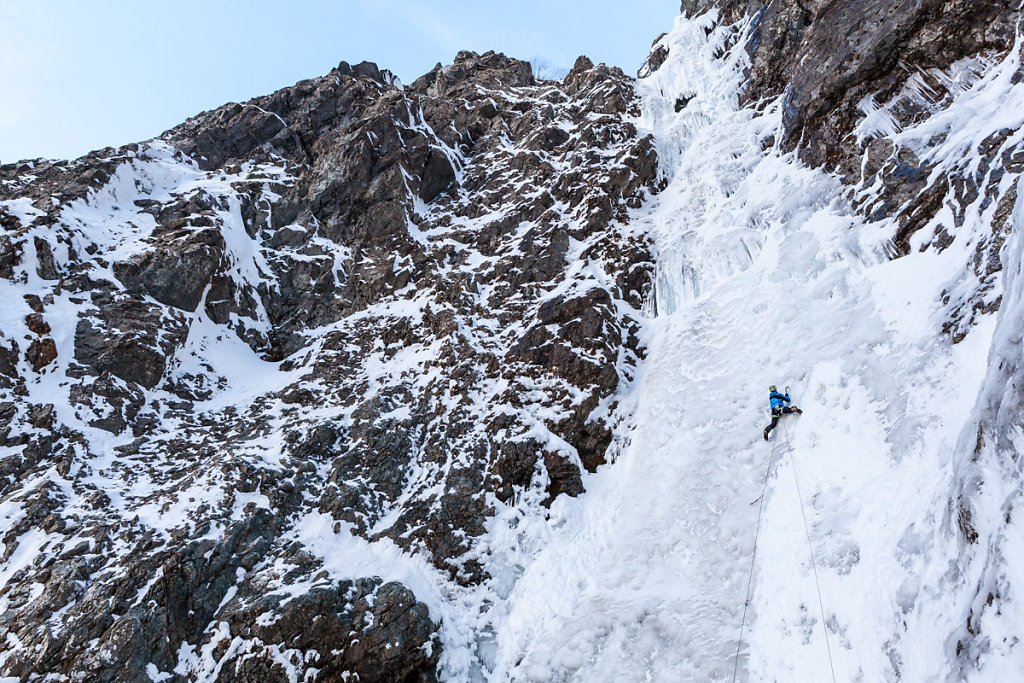 Bourg icefall. Cascade du Bourg.