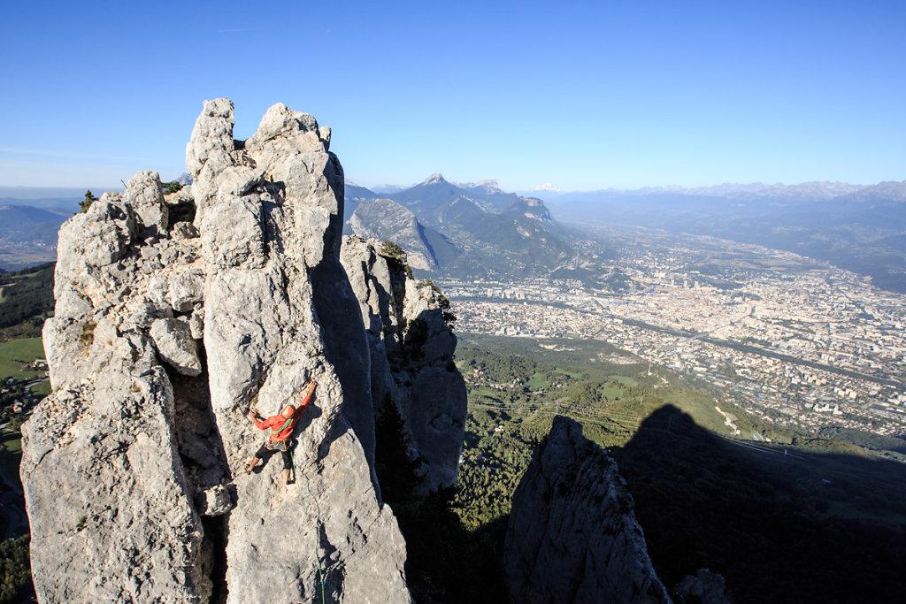 Climbing in Vercors. Escalade dans le Vercors.